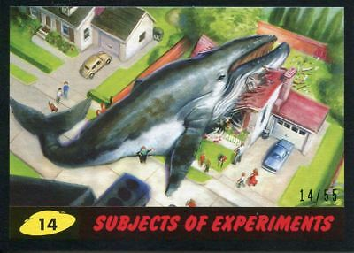 Mars Attacks The Revenge Black [55] Base Card #14 Subjects of Experiments