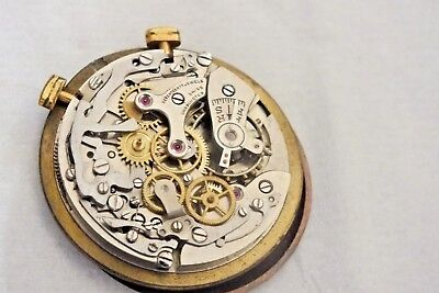 Landeron Manual Chronograph Movement Caliber ?  for parts  Dial (L7)