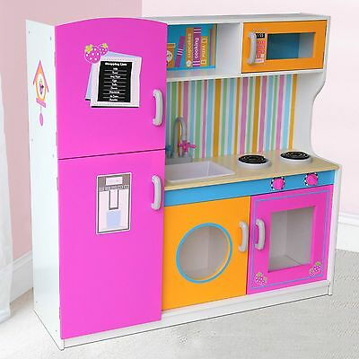 Big Wooden Kitchen with Fridge New Role-Play Toy (FREE P+P)
