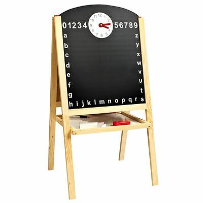 Magnetic Double-Sided Easel New Black & White Board (FREE P+P)