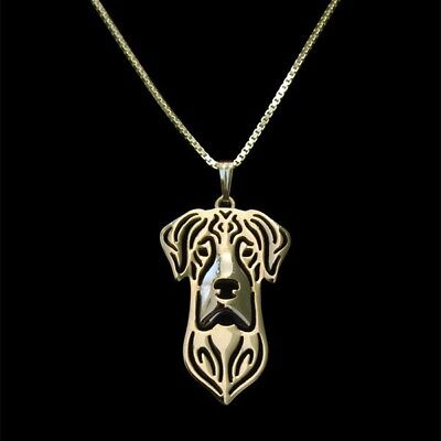Great Dane Ears Down Pendant Necklace Gold Tone ANIMAL RESCUE DONATION