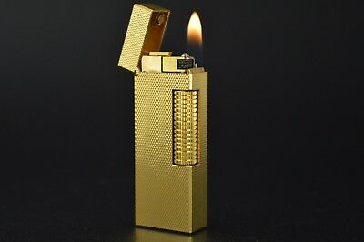 Dunhill Lighter Rollagas Serviced Working Vintage New O-rings Switzerland #557