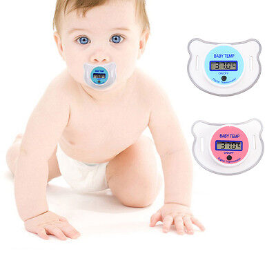 Baby Kid Thermometer Practical LCD Digital Mouth Nipple Pacifier FT