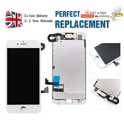 For iPhone 7 Plus LCD Display Touch Screen Digitizer Replacement + Camea White