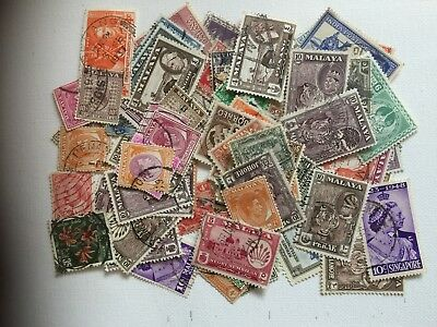 SOUTH EAST ASIA COLLECTION PRE 1965 100 stamps (101)