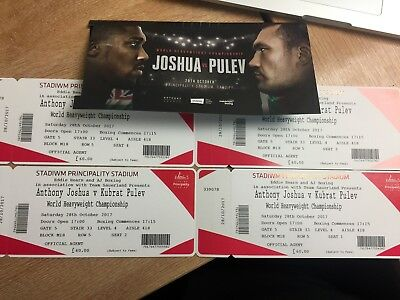 ANTHONY JOSHUA VS KUBRAT PULEV TICKETS x 2 (pair)  BLOCK M18