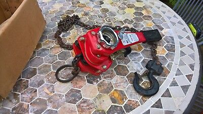 0,75 ton 750 kg lever block chain hoist 1,5 meter latch hooks pulley winch lift