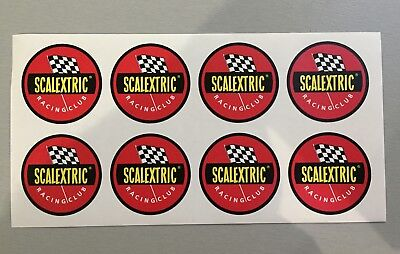 8 New unused 40mm circular Vinyl Stickers slot cars scalextric cool vintage toys