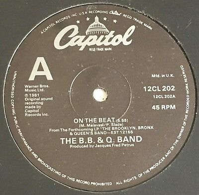 """The B.b & Q Band - On The Beat 12"""" - 1981 Uk Capitol   12Cl 202"""