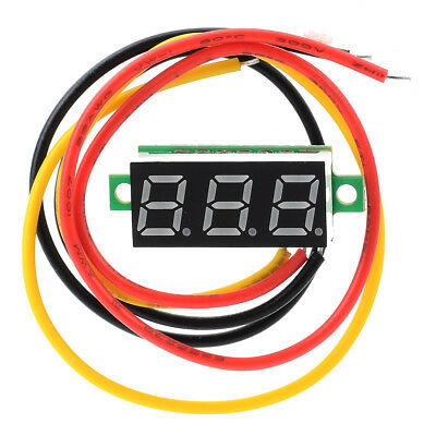 "0.28"" Red Light Digital Voltmeter Header 0-100V Lead Voltage Detector display"