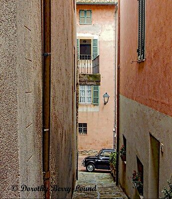"""Classic Alley View Paciano, Umbria, Italy mounted art print 10""""x 8"""""""