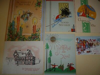 Vintage  Christmas Cards  not written in circa 1950s