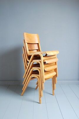 Vintage Genuine Tecta Plywood Stacking Chairs - 50+ Available - Cafe Bar