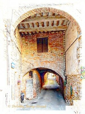 """The Arch of Time, Panicale, Italy, fine art photography mounted print 10""""x 8"""""""