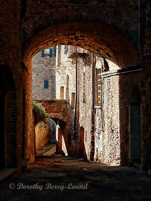 """Arch to Arch, Citta d Pieve, Italy, fine art photography mounted print 10""""x 8"""""""