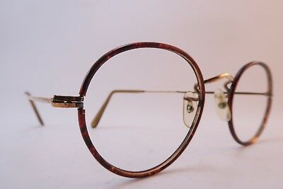 Vintage off round eyeglasses frames gold filled ALGHA 20 celluloid England