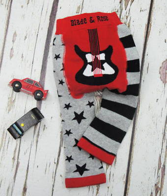 Blade & Rose boys guitar leggings trousers 0-6 6-12 months 1-2 3 years gift