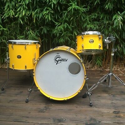 Gretsch USA Custom Drum Kit 22/12/16 in Tony Williams Yellow Lacquer