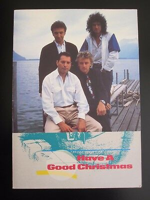 Queen  :  1988 Christmas Card - Pre-Printed Autographs / Signatures