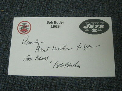 Bob Butler Autographed Index Card