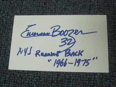Emerson Boozer Autographed Index Card