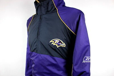 *new * Rare Retro Nfl Jacket Top Reebok Baltimore Ravens Jersey Size (Xl)