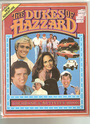 Vintage Dukes Of Hazzard Coloring & Activity Book EXCELLENT Bagged Boarded