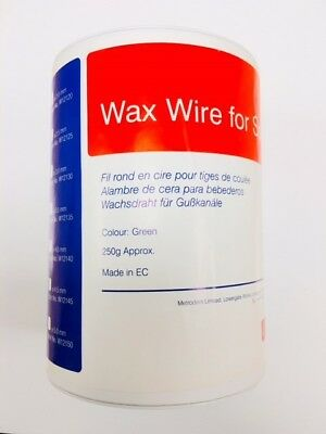 Metrodent Green Wax Wire for Sprues ø 2.0 mm - Approx 50 Metres