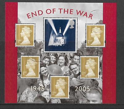 GB 2005 End of THE WAR Minisheet fine used set stamps