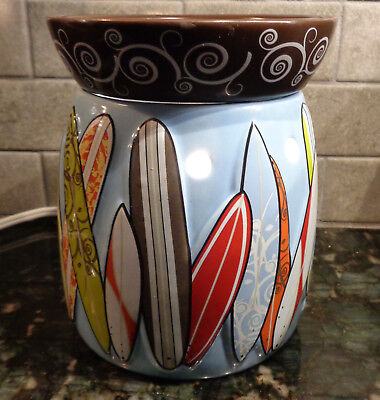 Scentsy Full Size Warmer Surfs Up Surfboards Surfing Great!