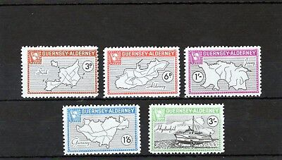 Alderney 1965 Definitives  AC35-AC39 UM