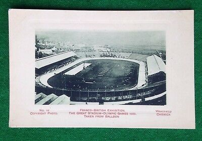 Franco-British Exhibition     Olympic Stadium     London 1908   Old Postcard