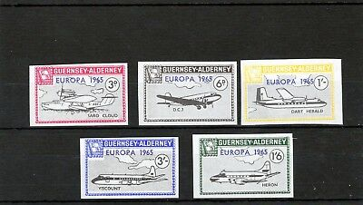 Alderney 1965 Europa  AC46-AC50 Imperforate Proofs UM