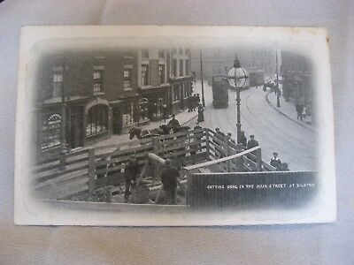 Getting Coal Main Street  Bilston John Price Black Country Postcard No.215 0813