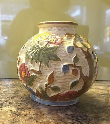 HJ Wood INDIAN TREE Vase Hand Painted