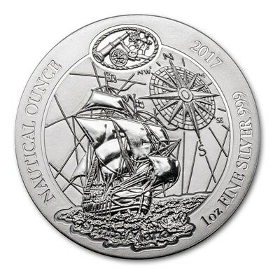1 oz 2017 Rwanda Santa Maria Nautical .999 Silver Bullion Coin