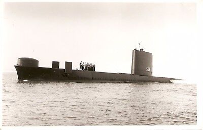 WRIGHT & LOGAN PHOTO,   HMS WALRUS,  S08,  1966,  Porpoise class Submarine