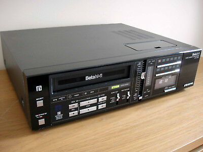 Sanyo VTC-M40 Betamax Video Recorder BetaHifi - Fully Working - New Belts Fitted