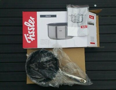 Fissler Classic 16cm non-stick open saucepan. New in box