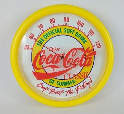 """RARE Coca-Cola Coke Drink of Summer Can't Beat Feeling Thermometer 14"""" 88-89'"""