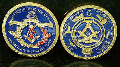 Freemason Coin A Brotherhood Of Man Under The Fatherhood Of God Gold Mason 1Oz
