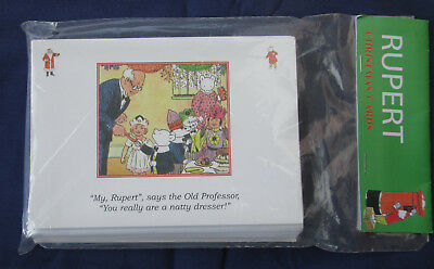 Rupert Bear Christmas Cards - Unopened Pack 16 Cards (4 Designs)