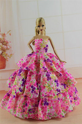 Fashion Princess Party Dress/Evening Clothes/Gown For Barbie Doll S339U