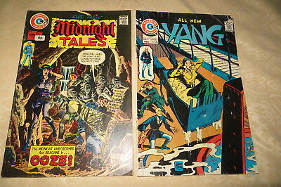 CHARLTON COMICS X 2 YANG No 6 & MIDNIGHT TALES No 7  LOW START.