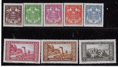 Monaco Small MH/MLH Group from 1933 Set