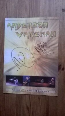 Jon Anderson/Rick Wakeman/Yes Signed Tour Programme Acoustic Yes Songs 2006