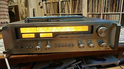 Rotel RX-603 stereo tuner amplifier receiver good condition QED interconnects