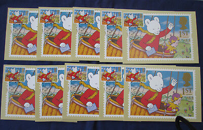 RUPERT BEAR STAMP STAMPED POSTCARD  FIRST DAY COVER x 10   1994