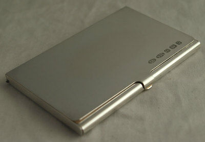 Stylish Contemporary Solid Silver Card Case - BIrm. 2006