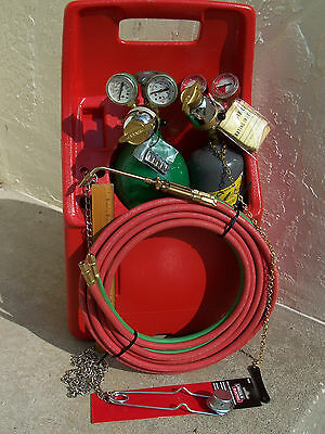 Professional Portable Meco Torch Kit/ Uniweld / Oxy Acetylene Welding W/Tanks